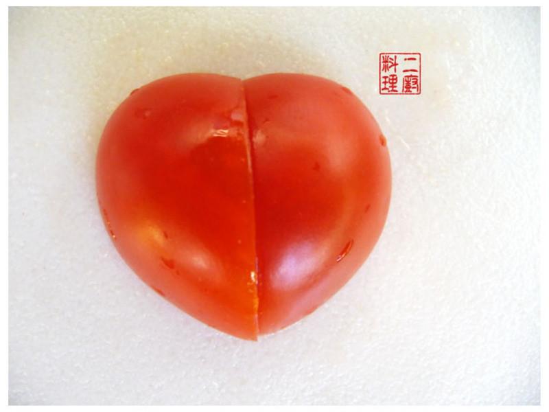 《二廚料理果雕》 心型 蕃茄 3步驟