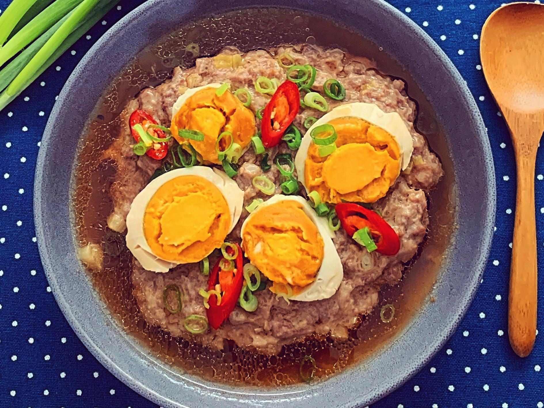鹹蛋黃蒸肉餅