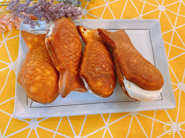 脆皮冰淇淋鯛魚燒[脆皮雞蛋糕] 小V機