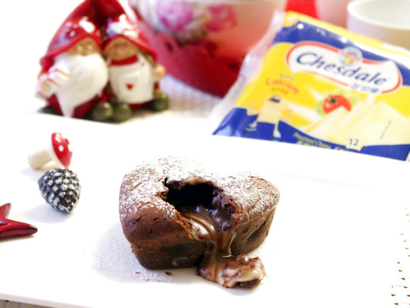芝司樂聖誕起司料理~巧克力起司熔岩蛋糕