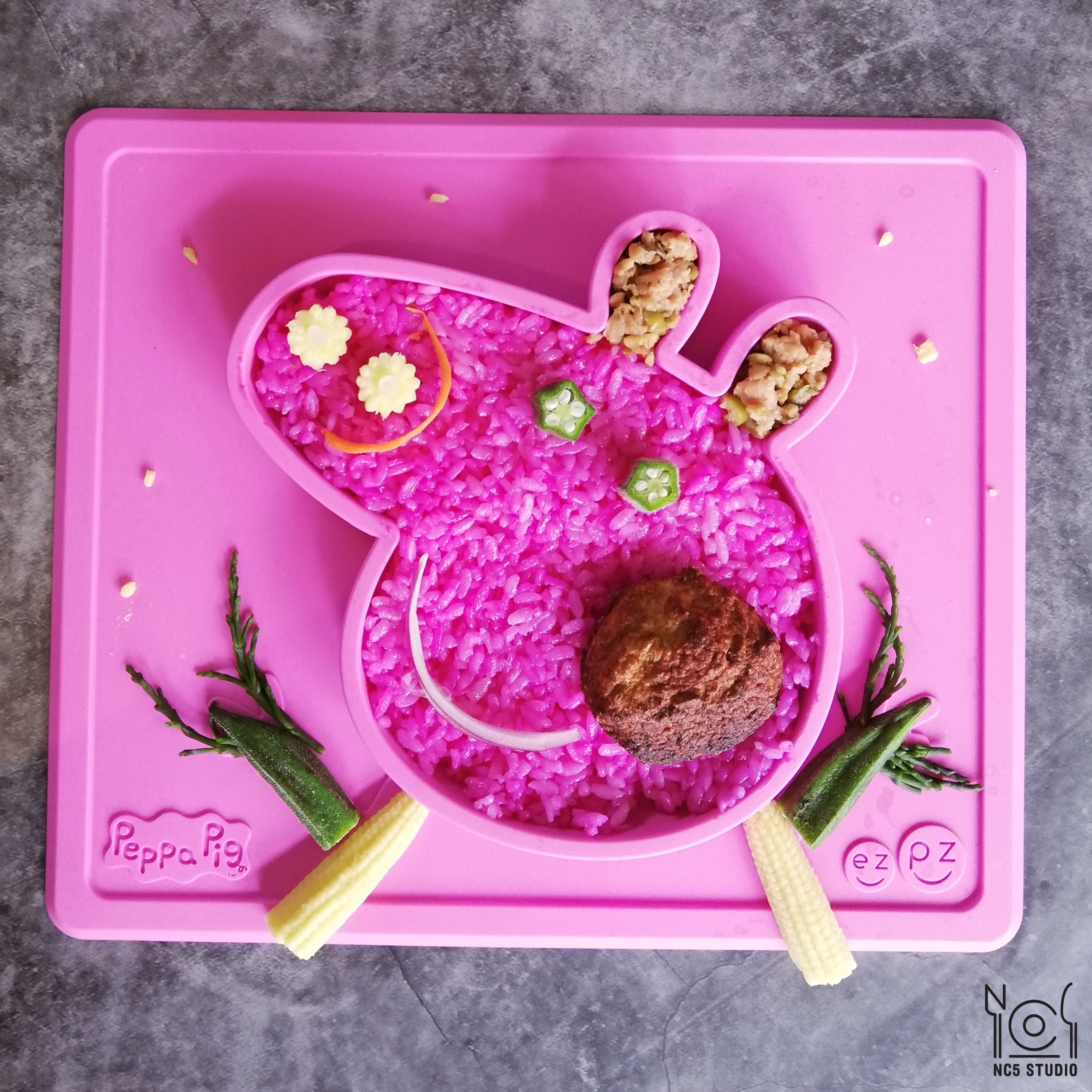 創意兒童餐 <蔬食> 佩佩豬兒童餐