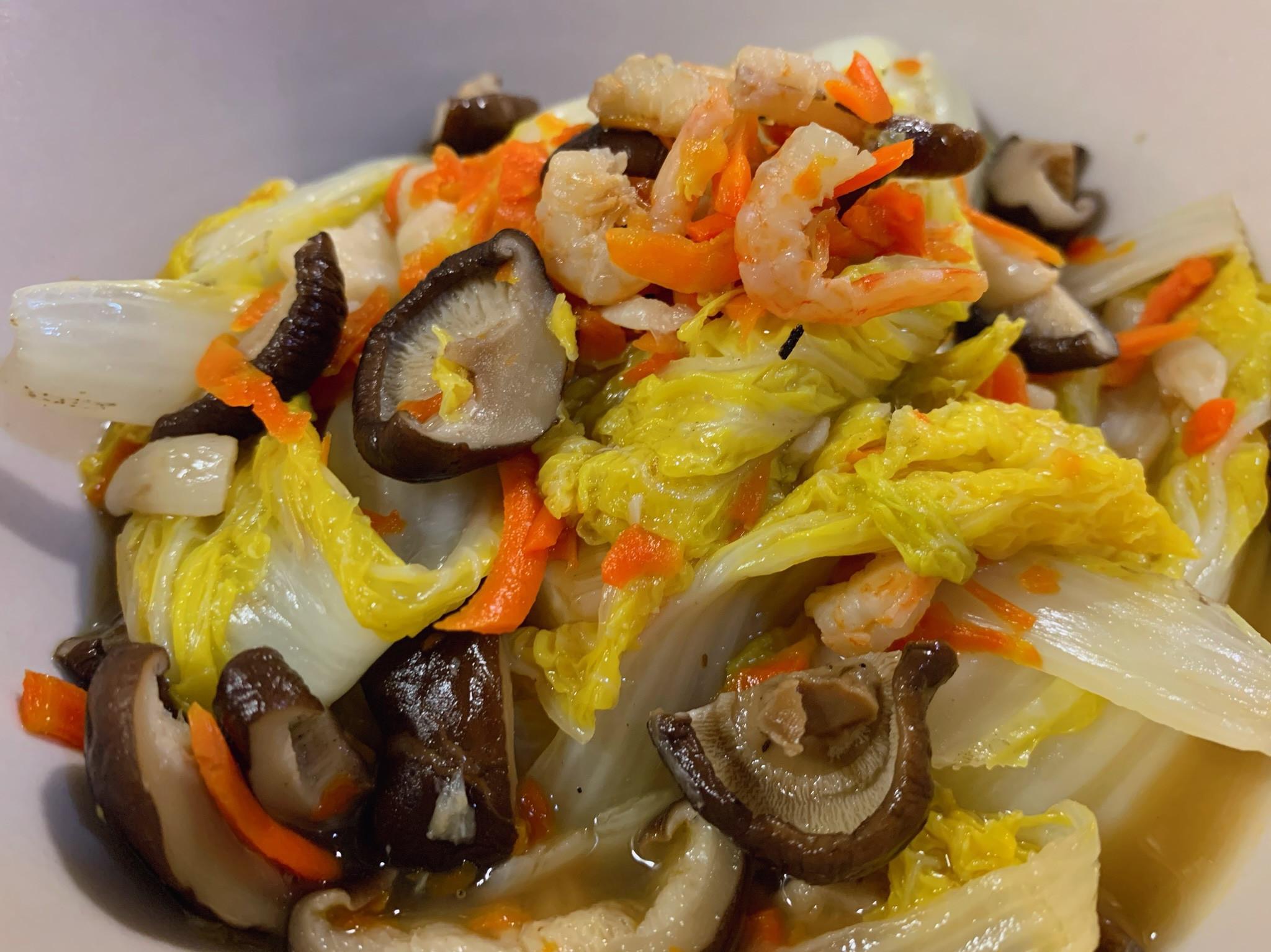 香菇蝦米燴娃娃菜😋