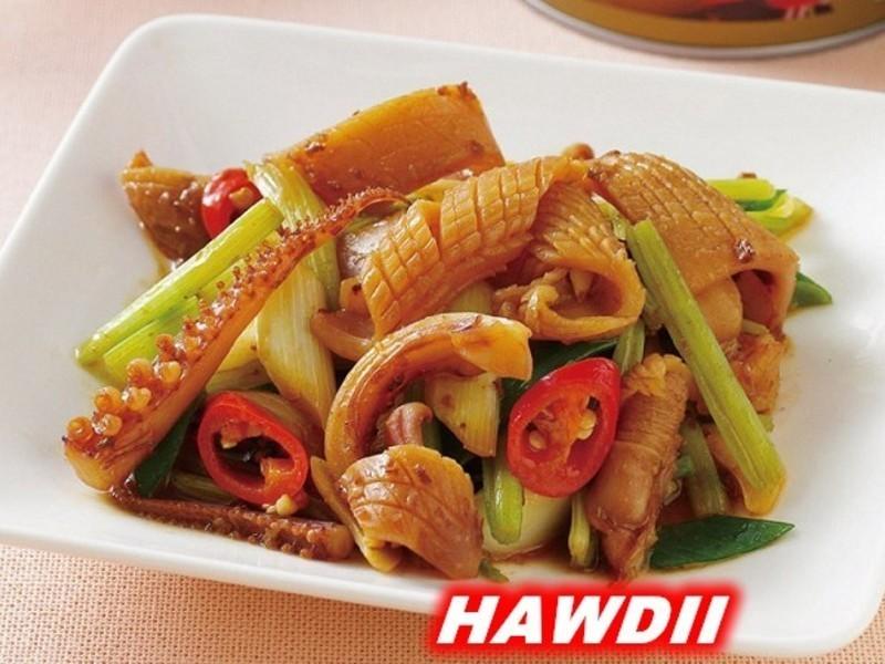 炸醬芹菜炒魷魚