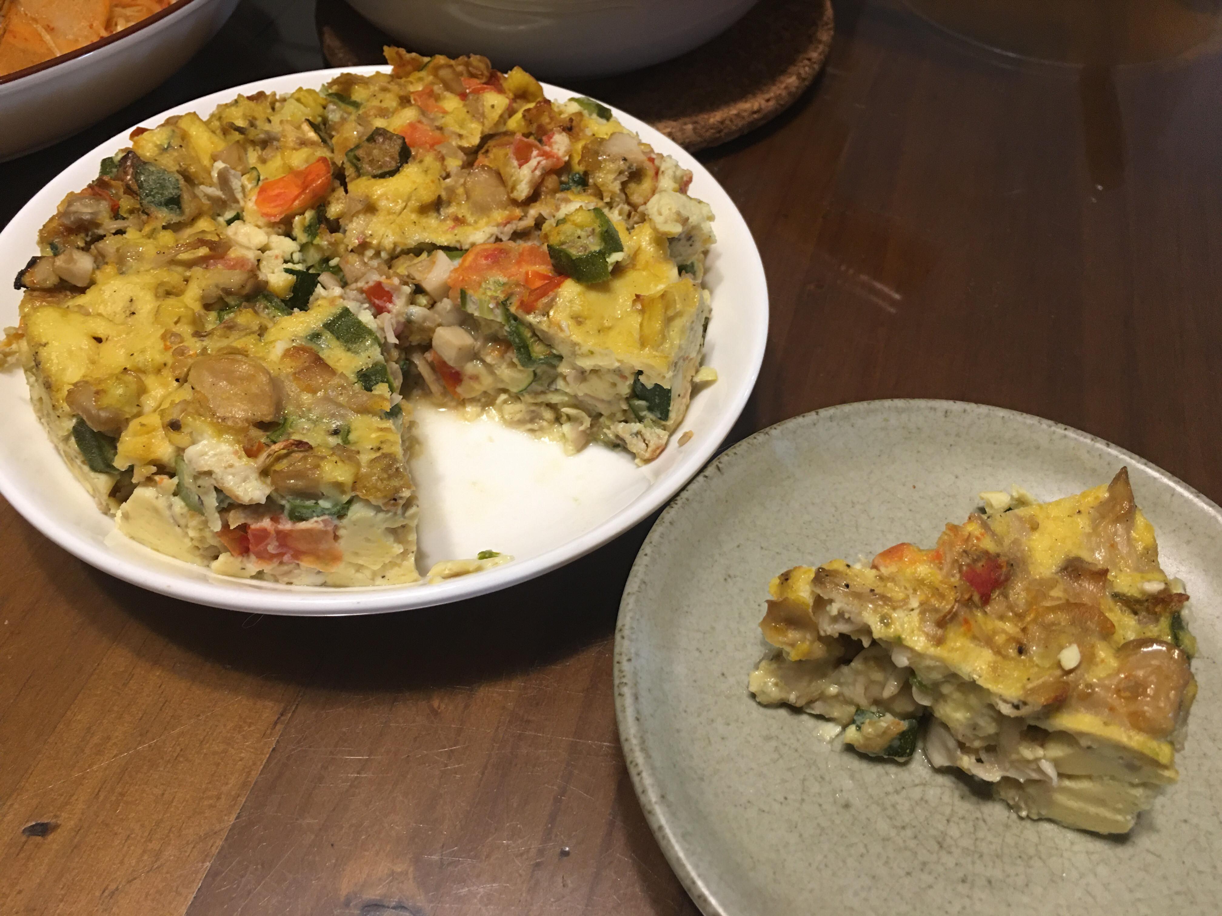 氣炸鍋蔬菜烘蛋(蛋奶素)