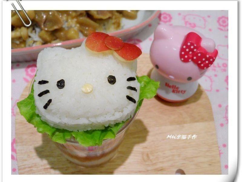 【親子食堂】Hello Kitty造型咖哩飯飯