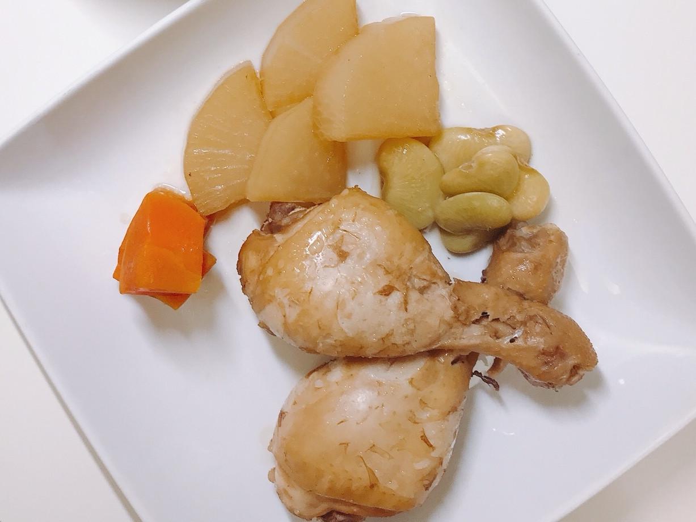 蘿蔔變身一湯ㄧ主菜 白蘿蔔滷雞腿+蘿蔔湯