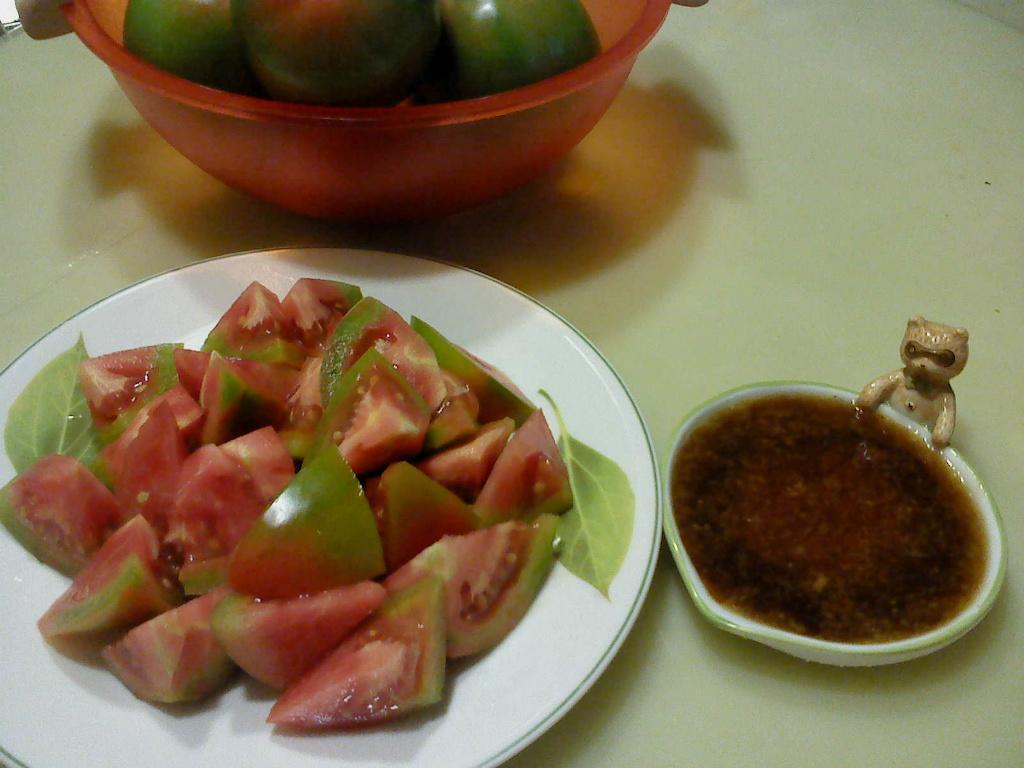 莎媽五心級料理~蕃茄切盤