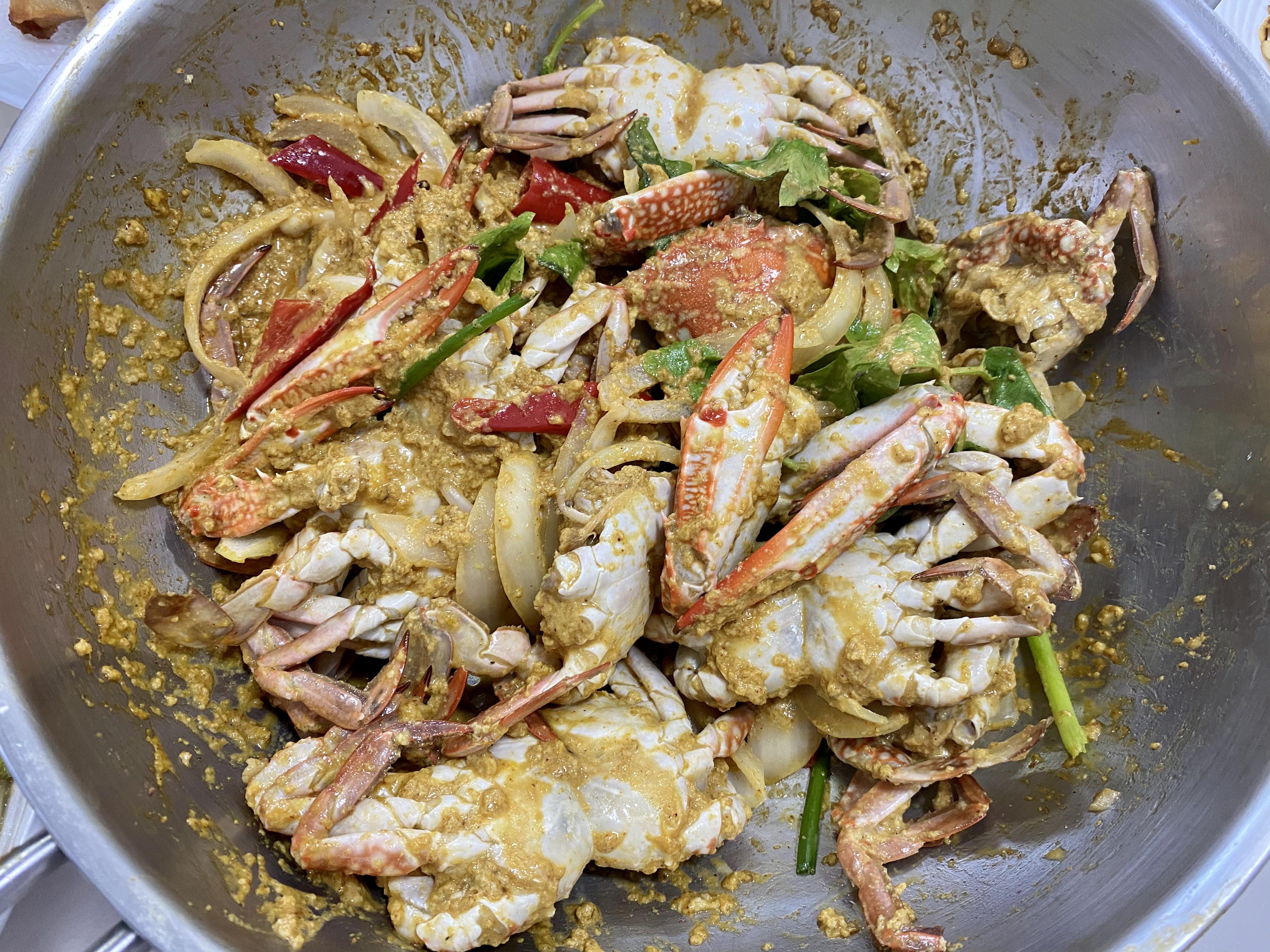 泰式咖哩炒螃蟹
