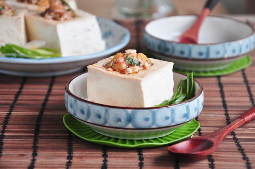 沙茶蝦末鑲豆腐