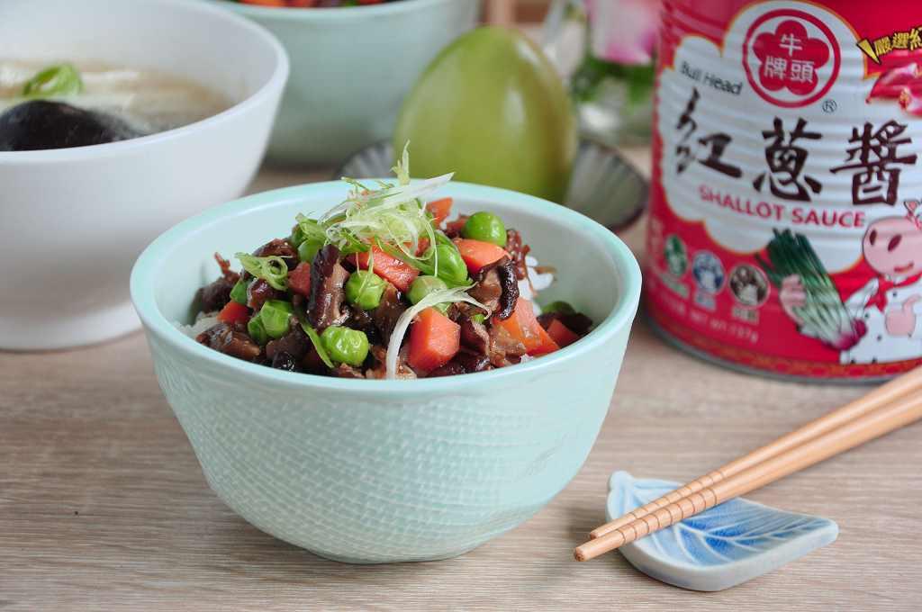 菇香紅蔥醬拌飯