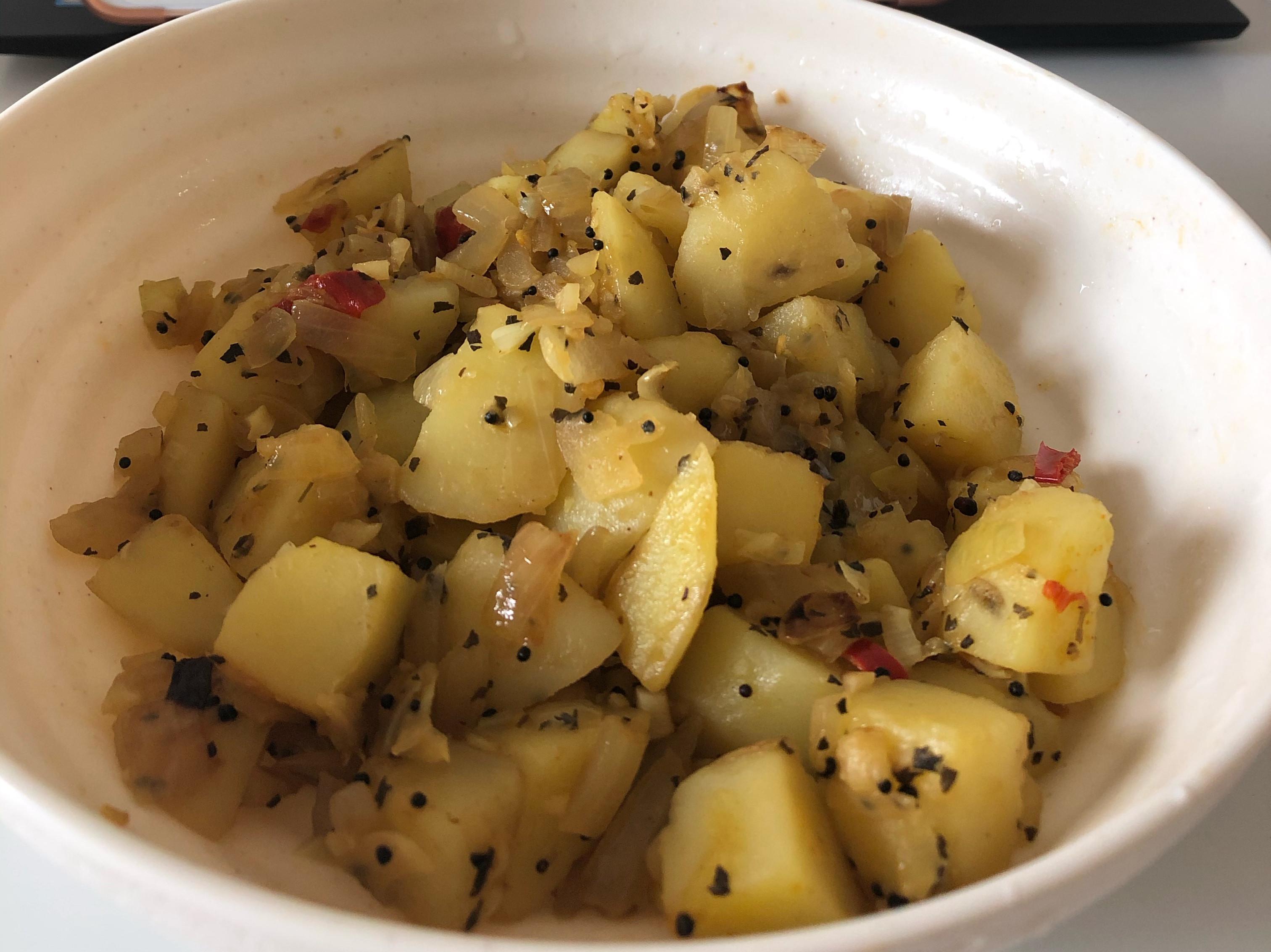 印度道地素食 乾咖哩 subji