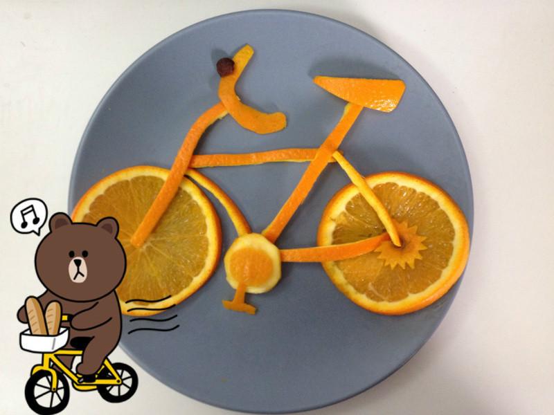 柳橙雕-腳踏車