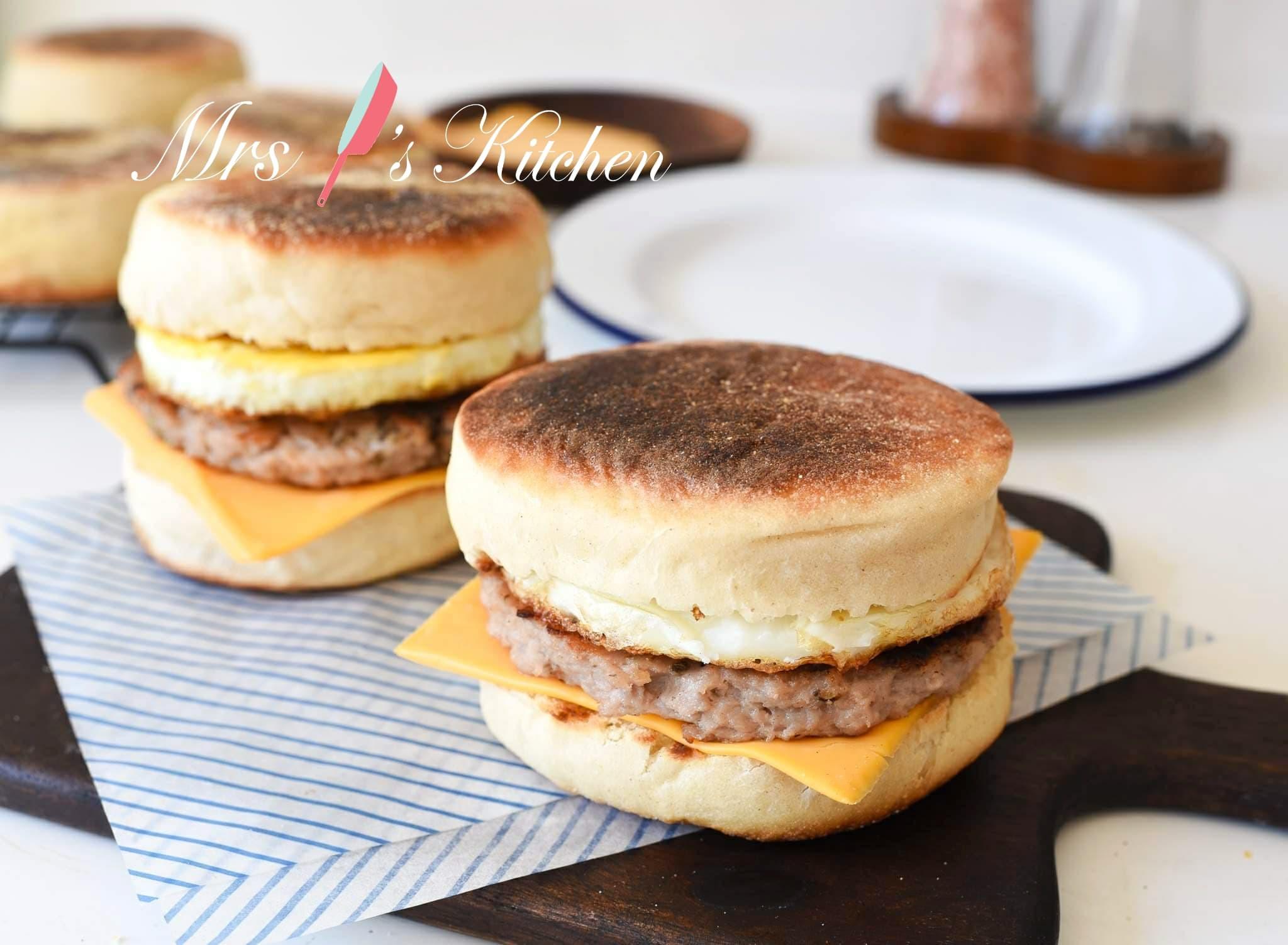【影片】自製滿福堡(免烤箱)+漢堡排做法