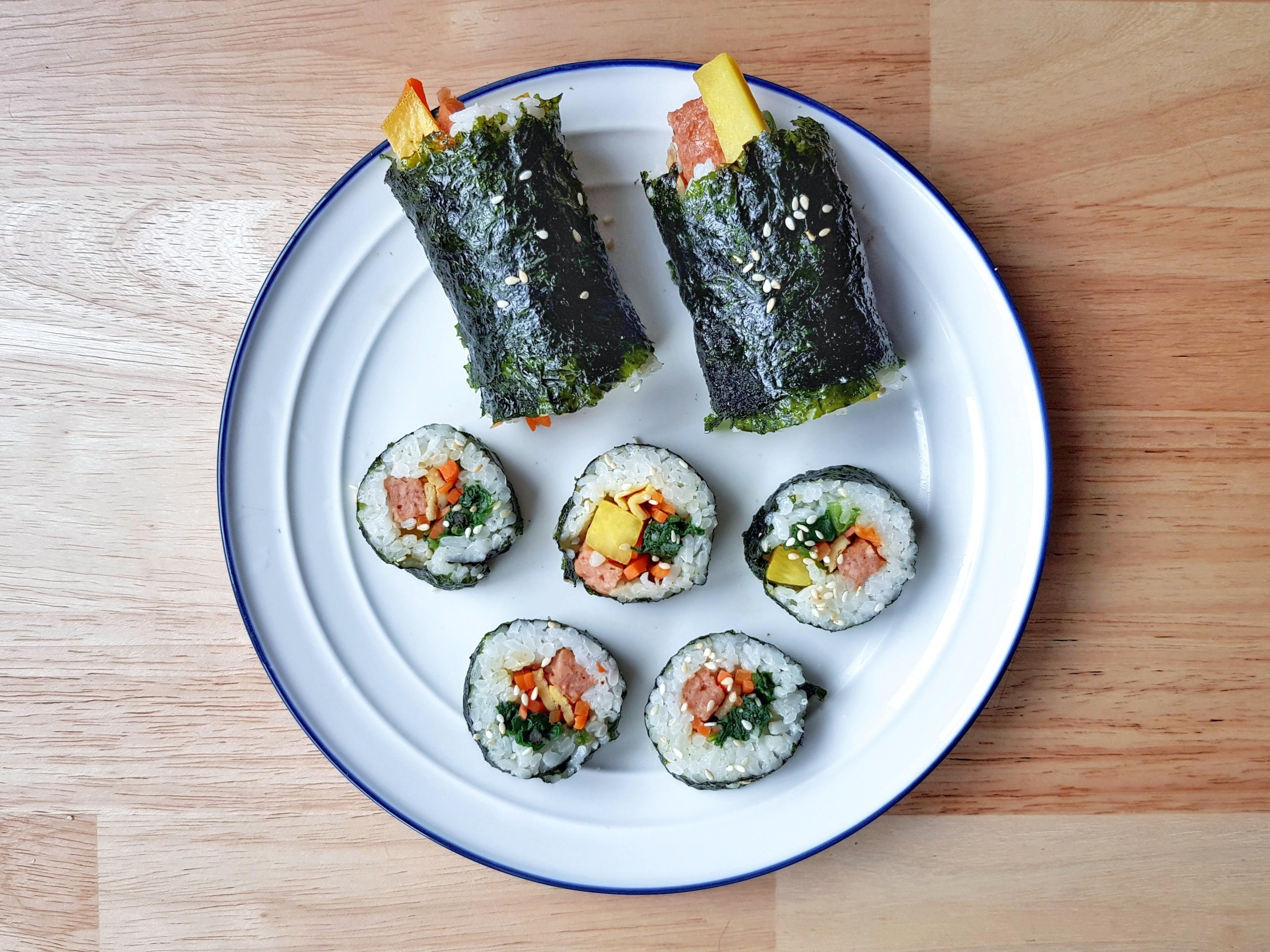 新餐肉韓式紫菜飯卷 (新餐肉料理)