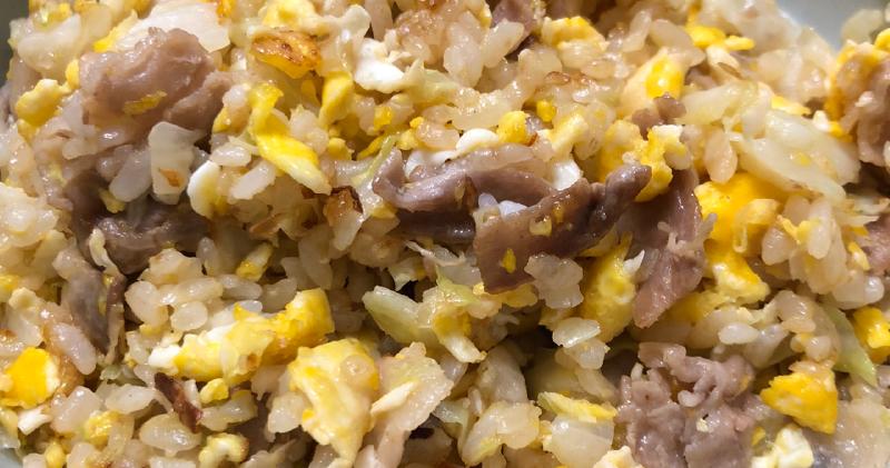 黃金雞油高麗菜蛋炒飯