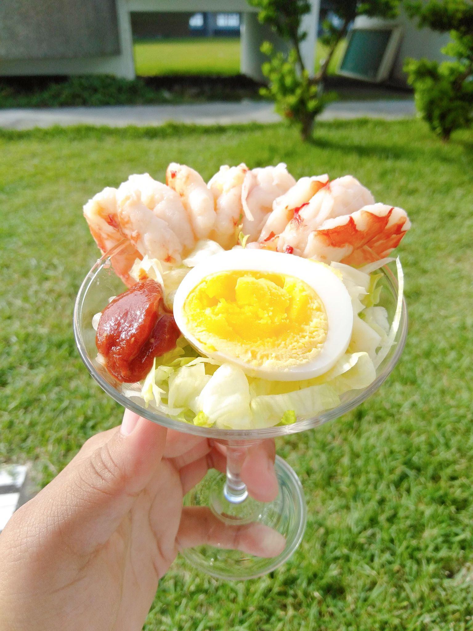 鮮蝦盅附考克醬