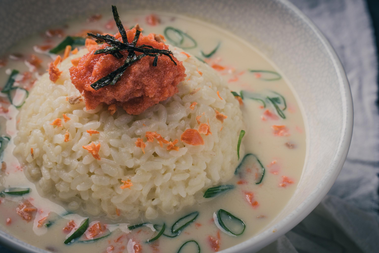 明太子豆乳雞湯泡飯