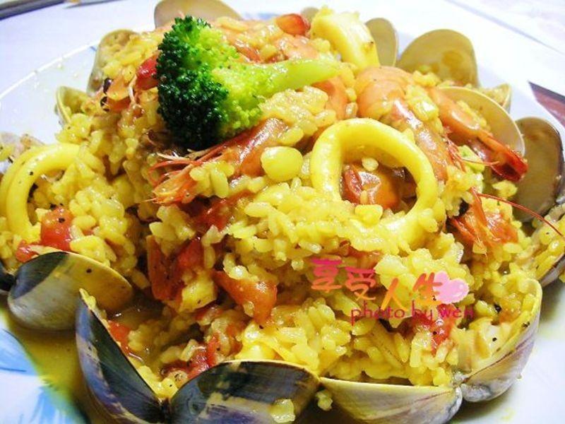 《享受人生》西班牙海鮮燉飯(2人份)