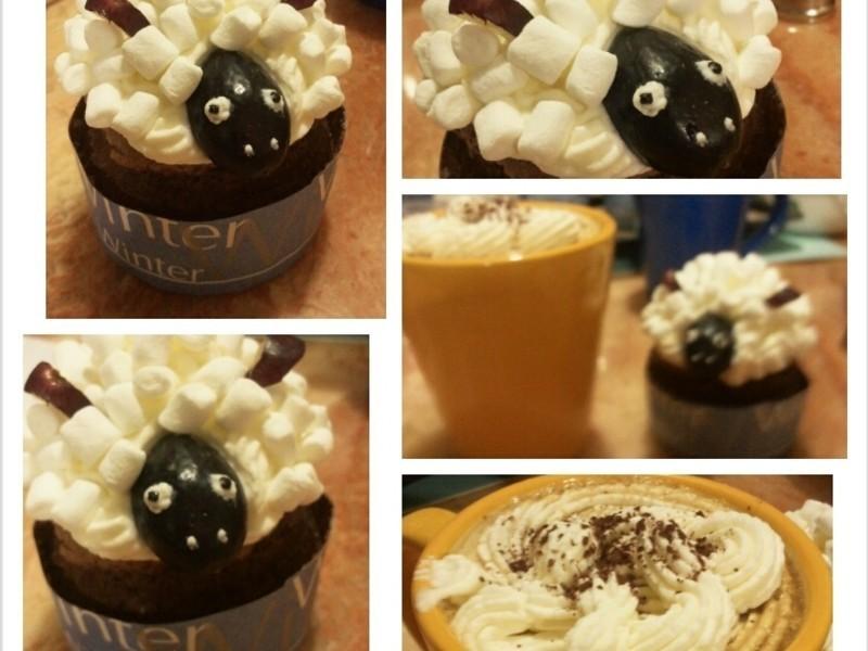 DIY手作小蛋糕-黑羊羊~咩咩
