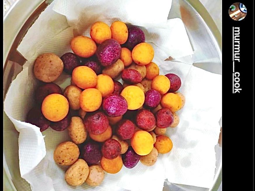 地瓜球/QQ球(蛋)-三色芋頭 紫黃地瓜