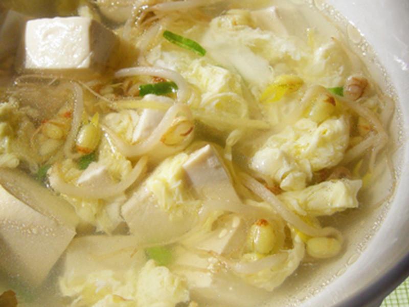 【厚生廚房】銀芽豆腐蛋花湯