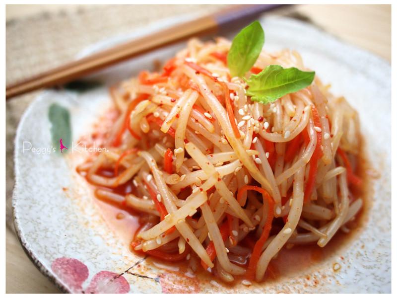 《Peggy廚房》韓式涼拌銀芽(冷熱都好吃)