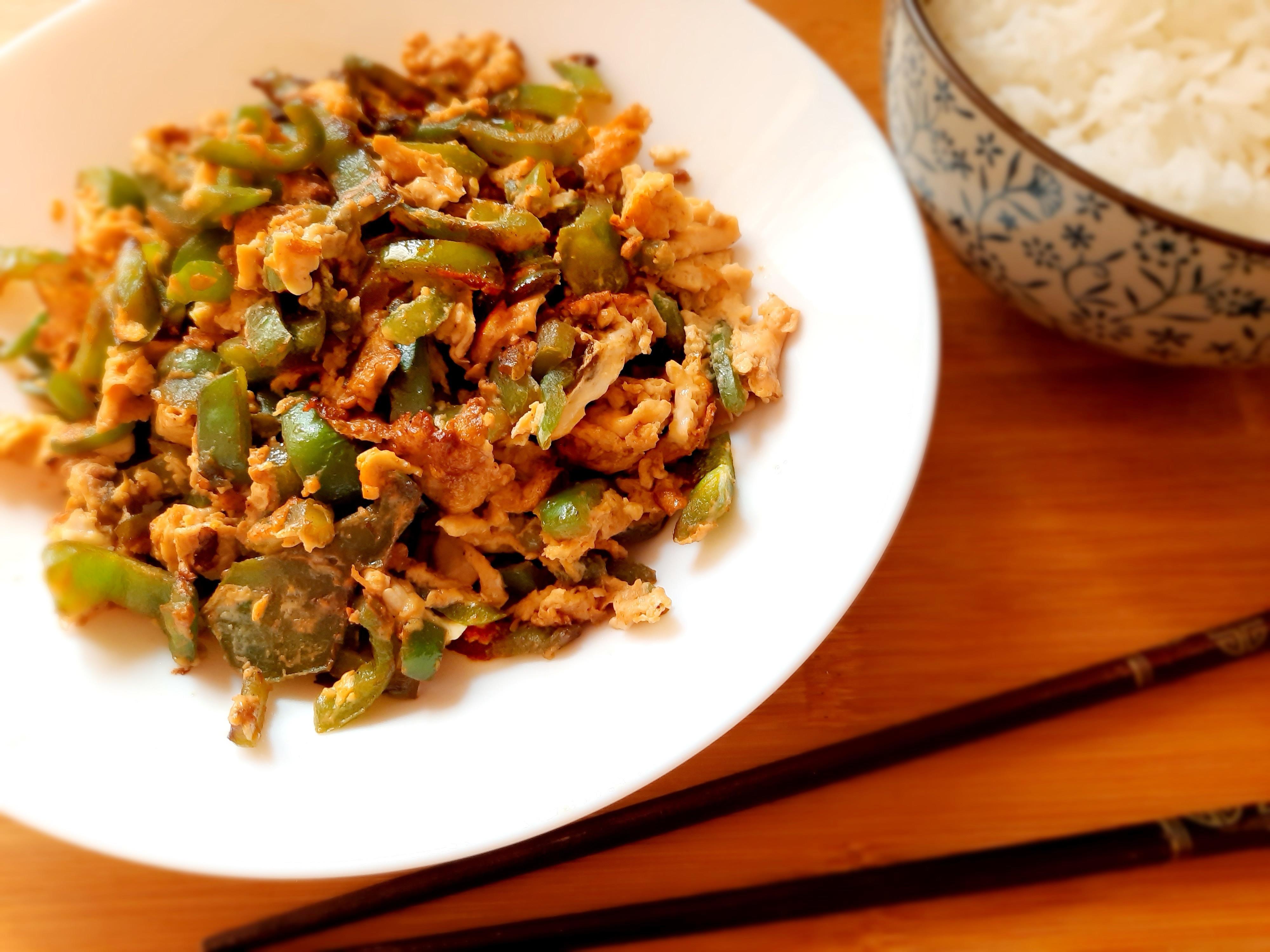 青椒炒蛋-十分鐘上菜