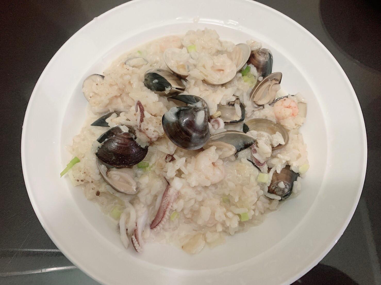 白醬海鮮燉飯