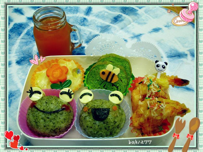 [親子飯糰]青蛙飯糰