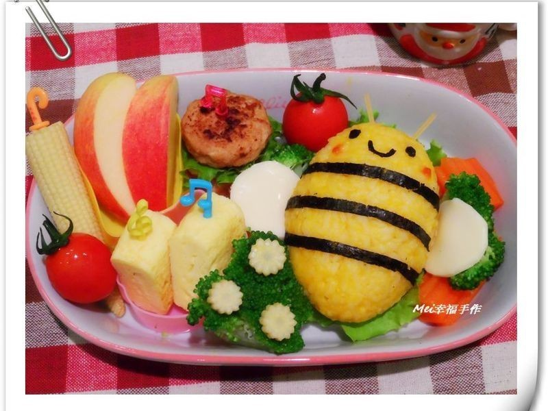【親子食堂】嗡嗡嗡~小蜜蜂南瓜飯飯