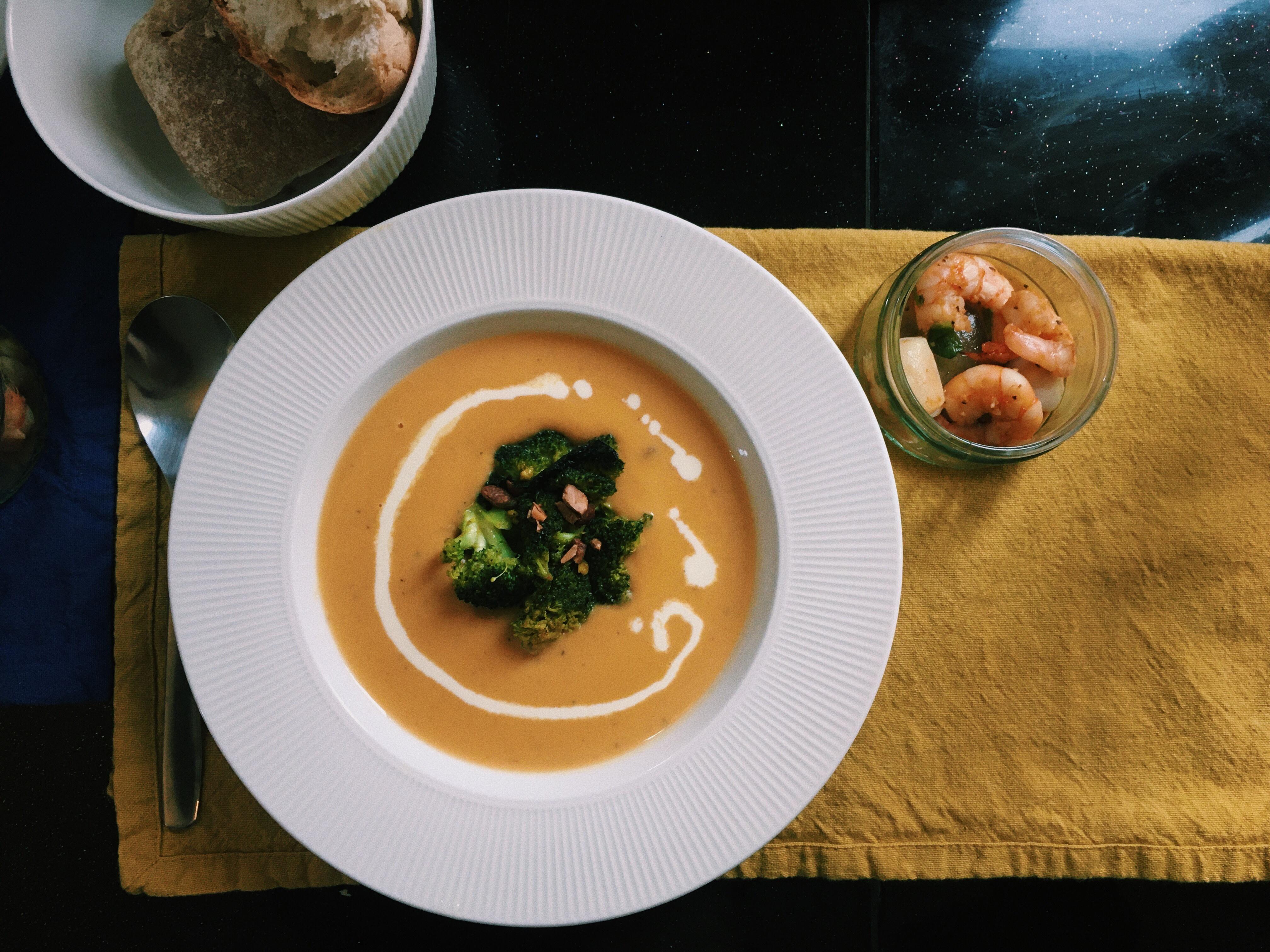 南瓜地瓜濃湯&薑黃花椰菜🥦