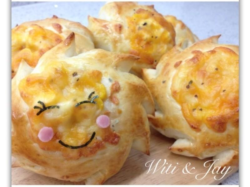 [Witi✿Kitchen](麵包機-麵包)朝陽乳酪麵包