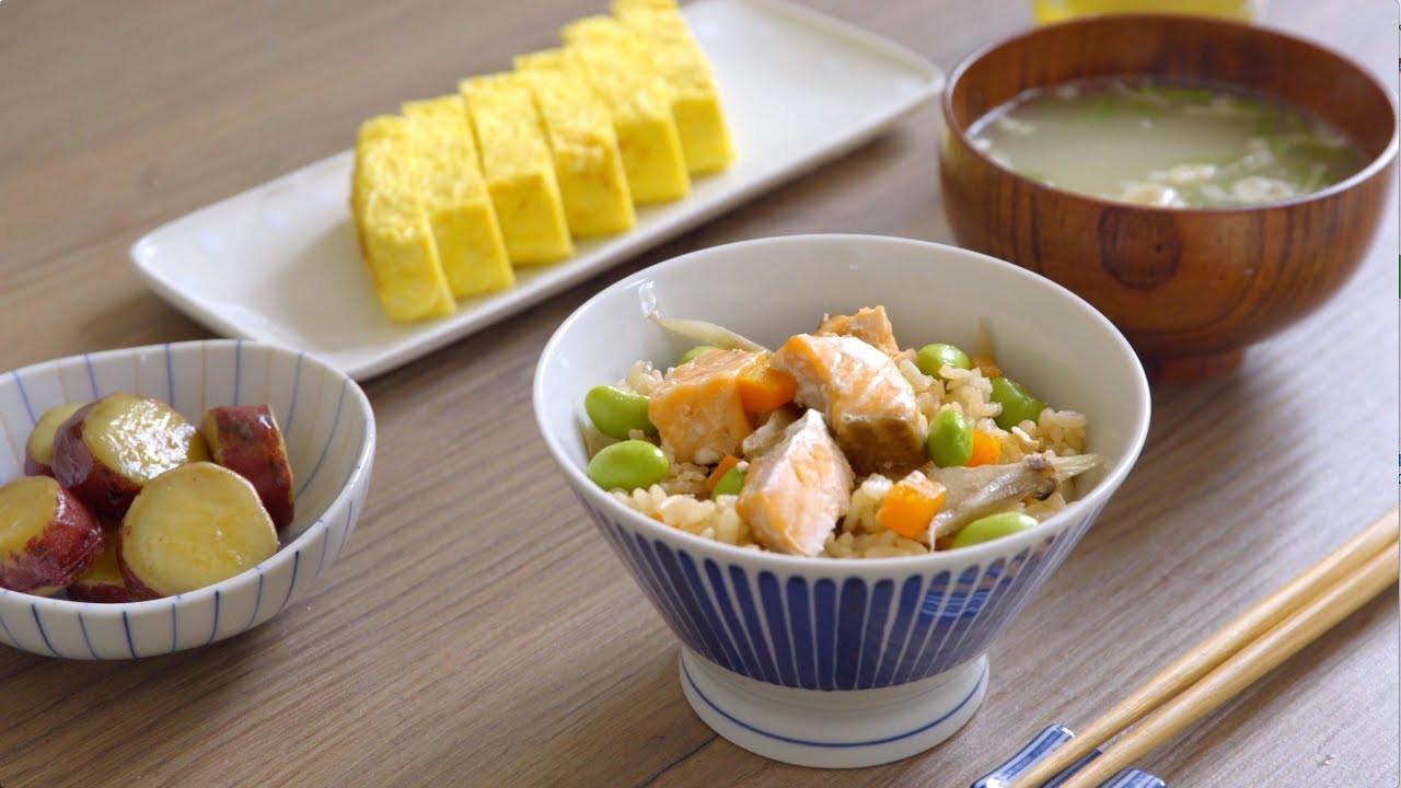 鮭魚毛豆炊飯(月薪嬌妻)