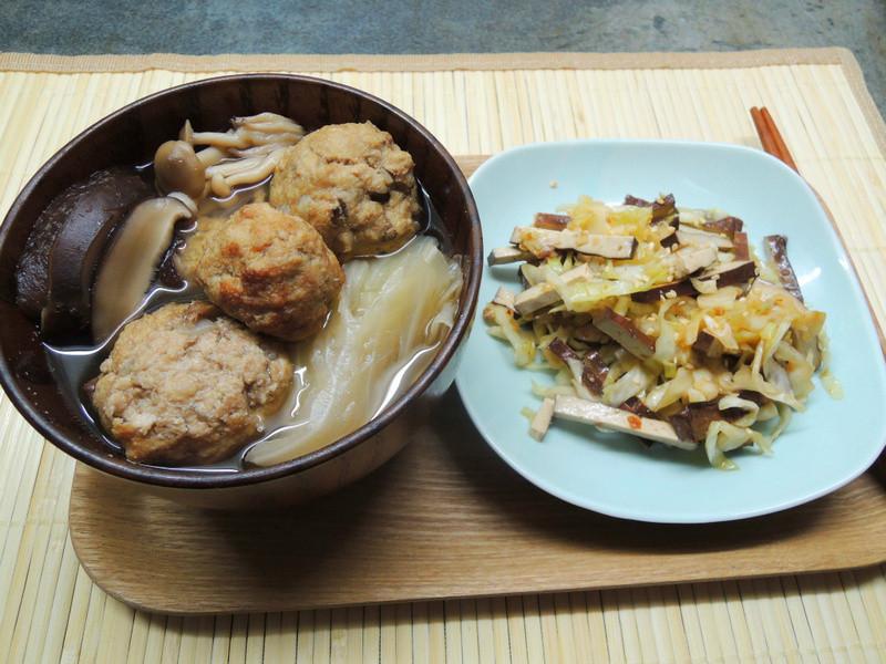 豆渣獅子頭燉高麗菜