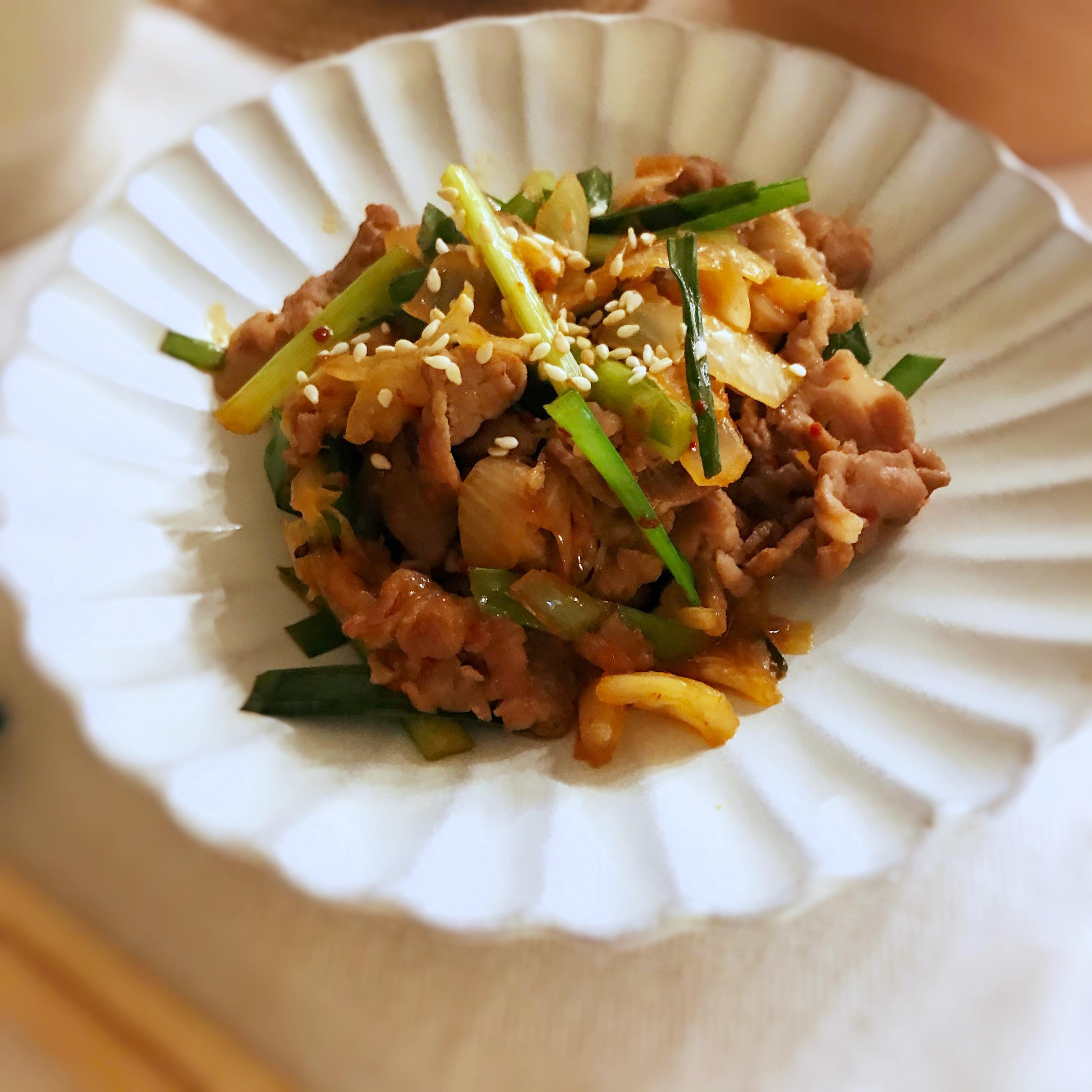 泡菜炒肉片 (露營OK)