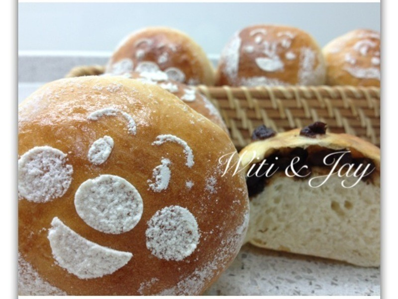[Witi✿Kitchen](麵包機-麵包)天然酵母紅豆麵包