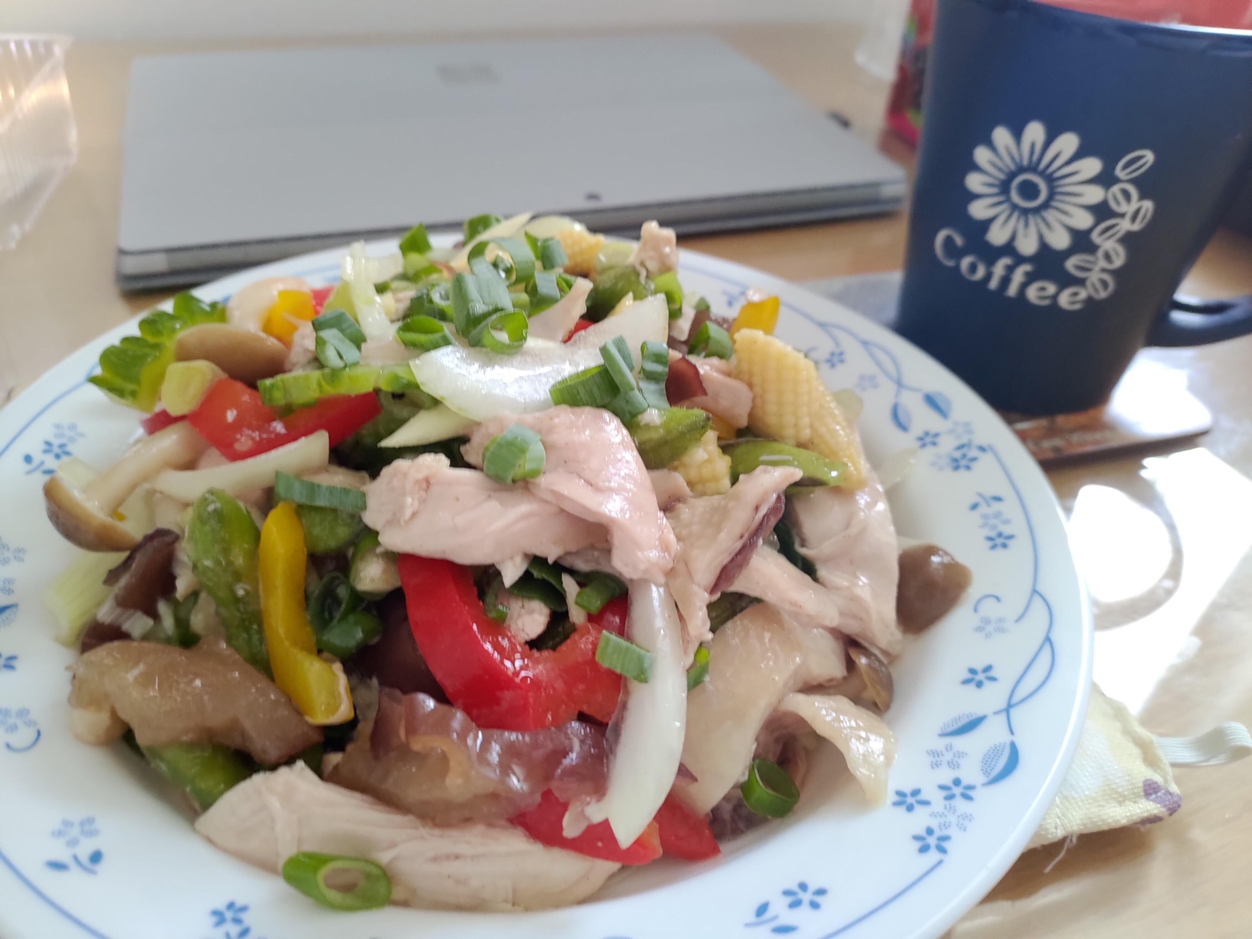 🌈彩色鹹水雞-簡便營養又均衡!