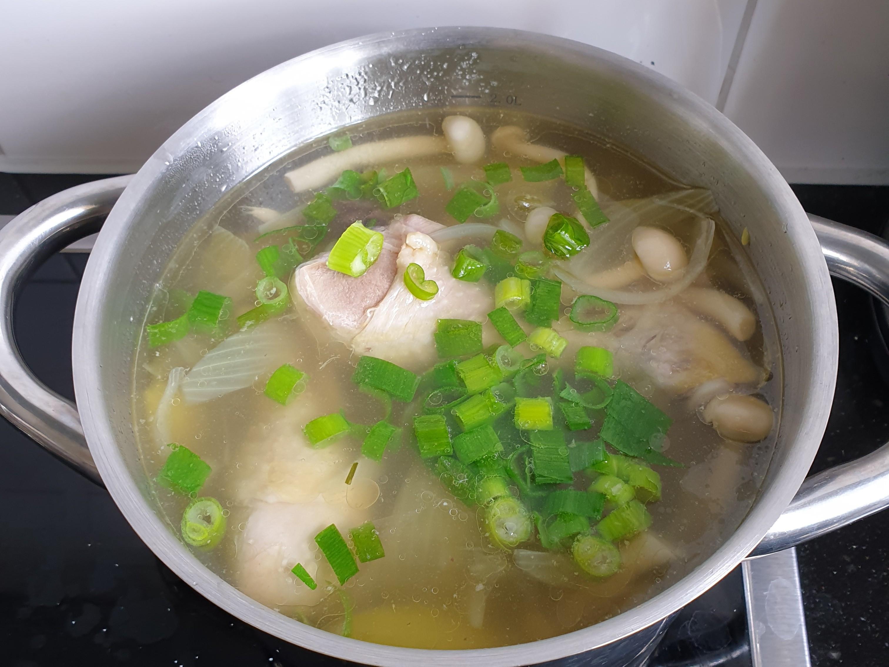 蘋果洋蔥雞湯