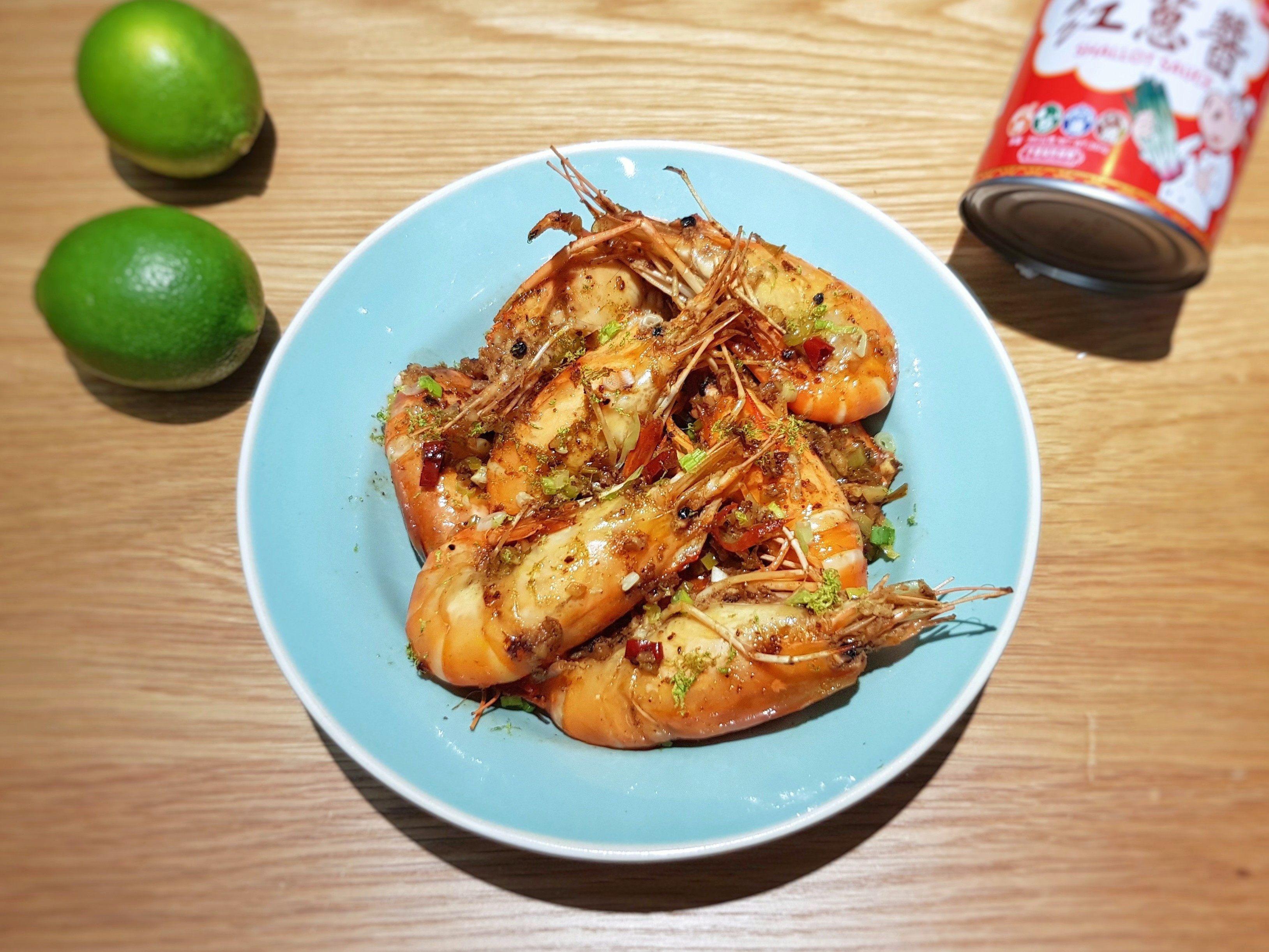 紅蔥醬爆檸檬泰國蝦 (牛頭牌紅蔥醬)