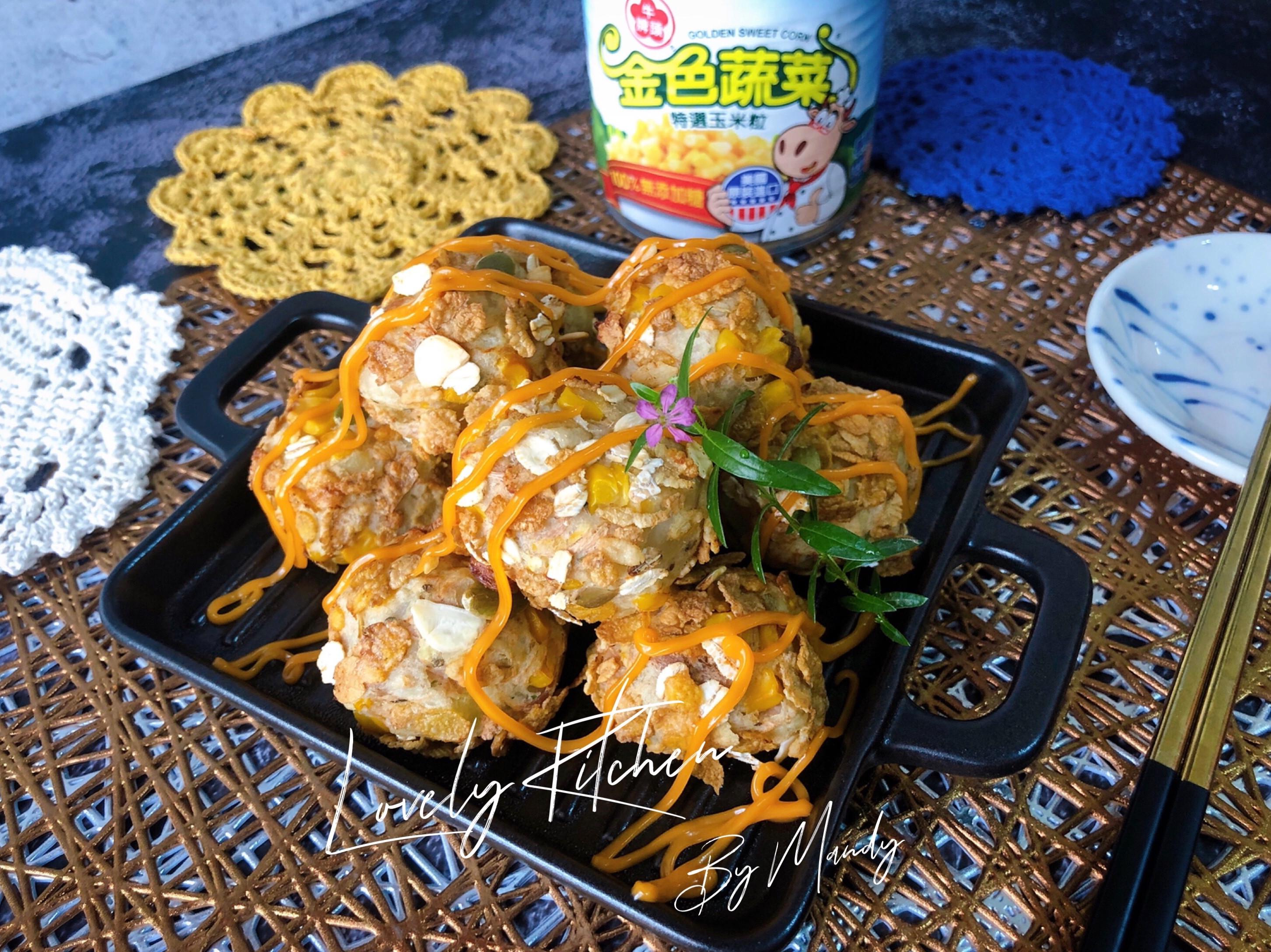 鮪魚玉米薯球【免油炸】