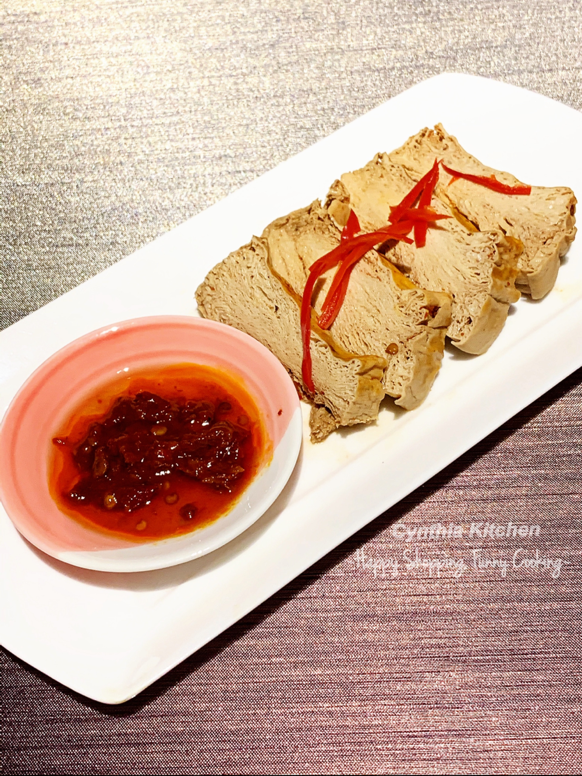 滷水蜂巢豆腐(萬用滷水汁之二)
