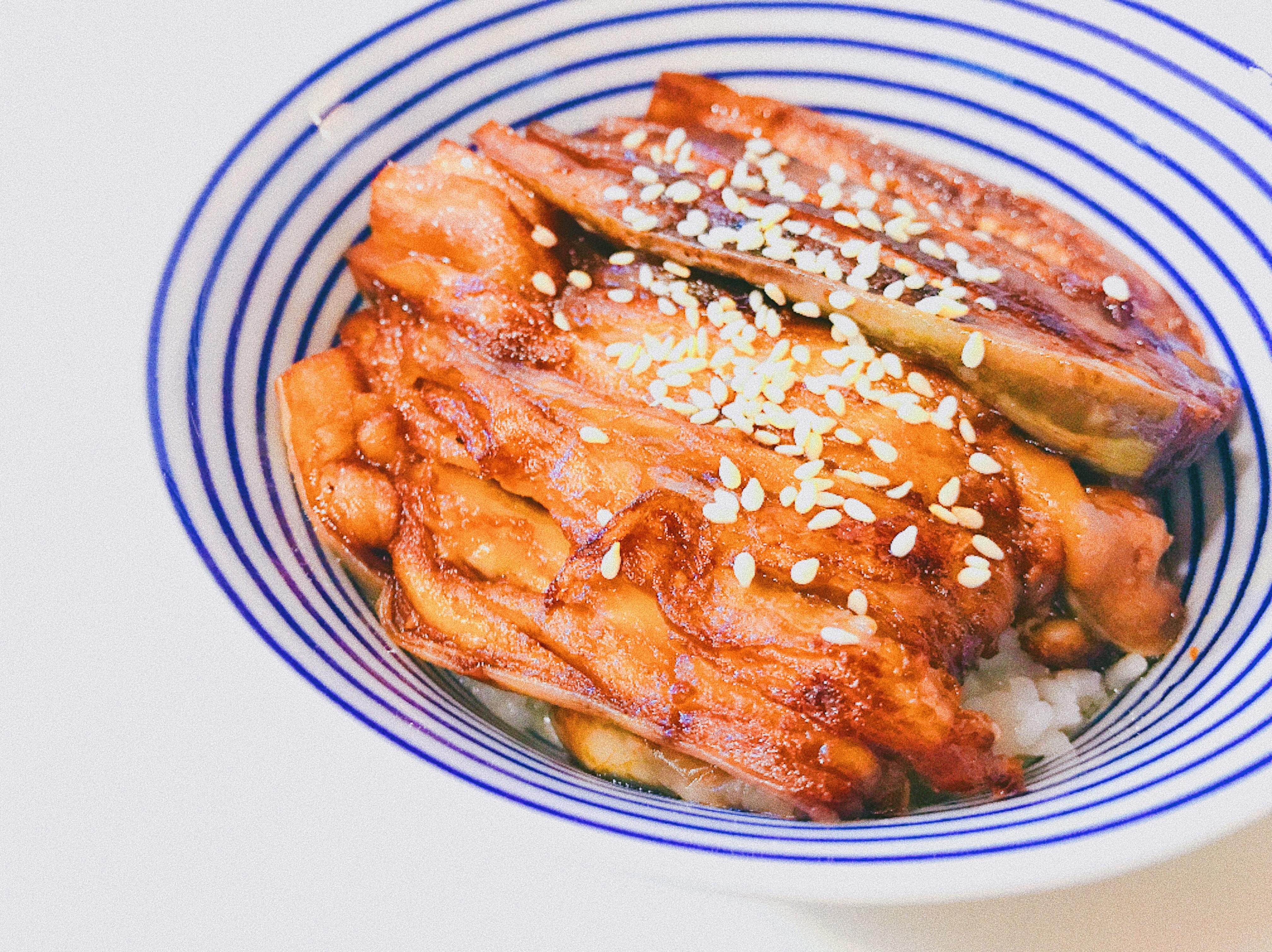 素鰻魚蓋飯(茄子)