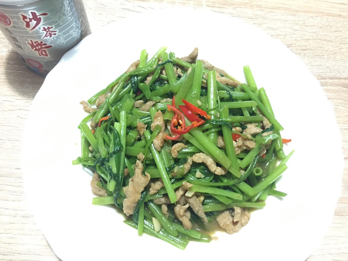 沙茶豬肉空心菜