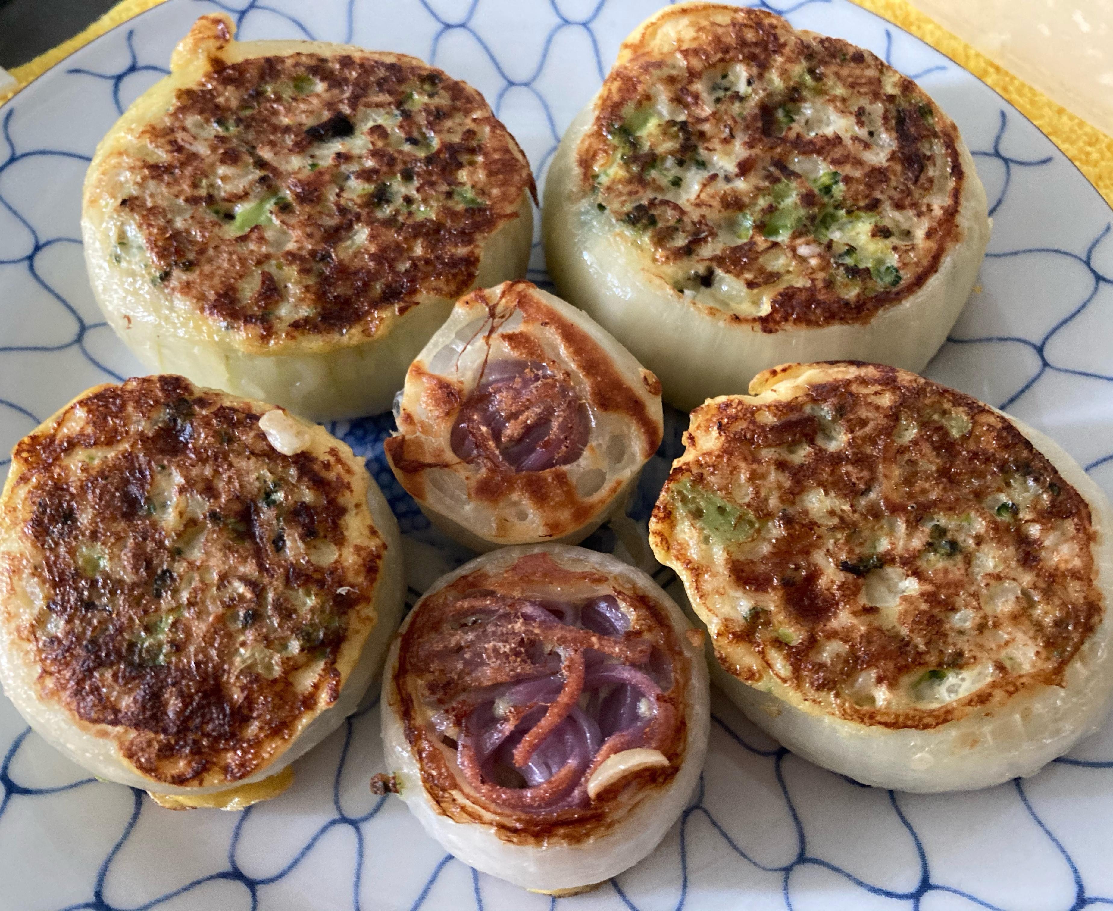 媽媽寶寶餐-洋蔥麵線圈餅