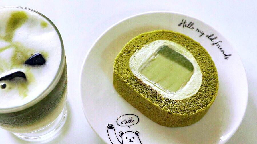 抹茶奶凍蛋糕卷