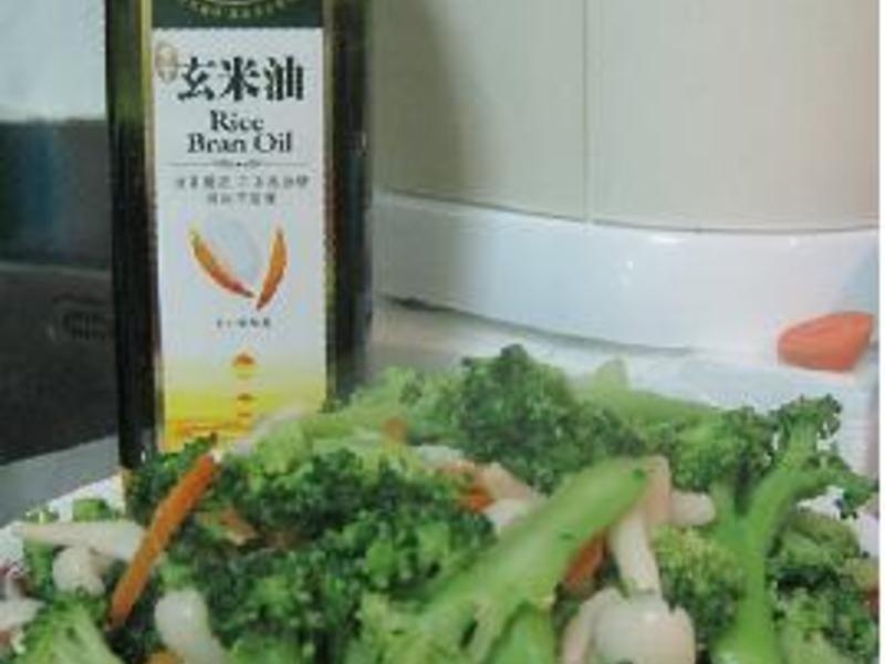 黃金玄米HOME炸料理~清炒花椰