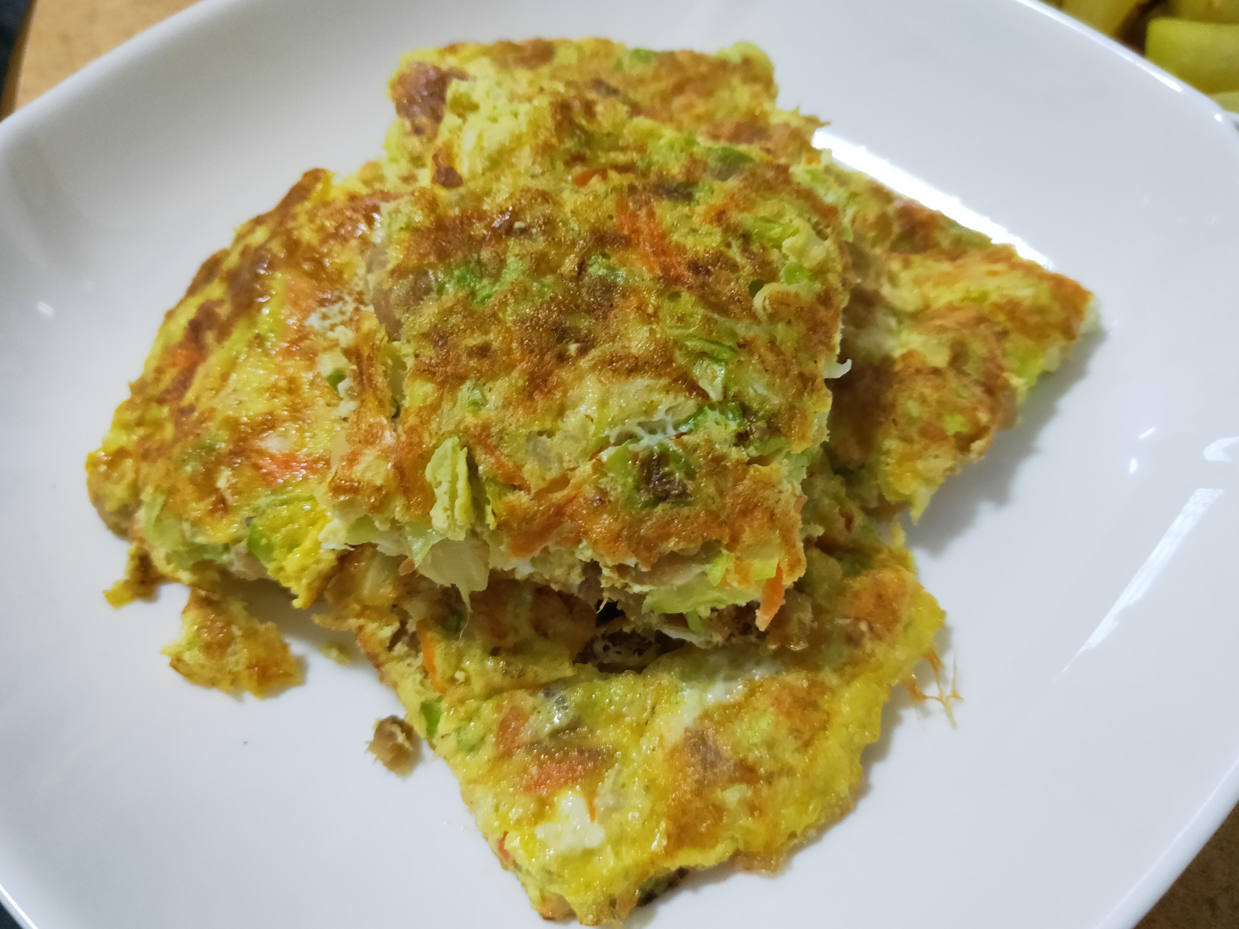 【咖哩蔬菜烘蛋】牛頭牌咖哩炒醬料理♥
