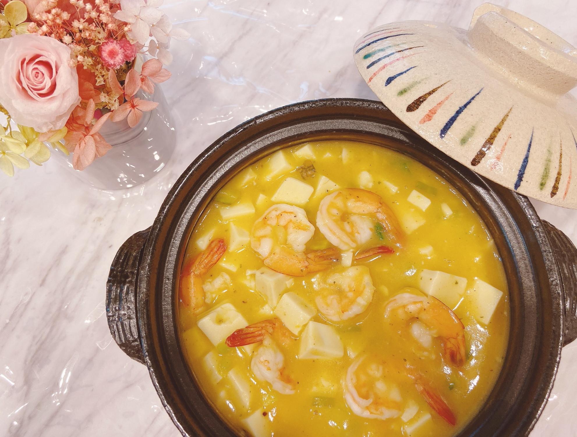 南瓜海鮮豆腐煲