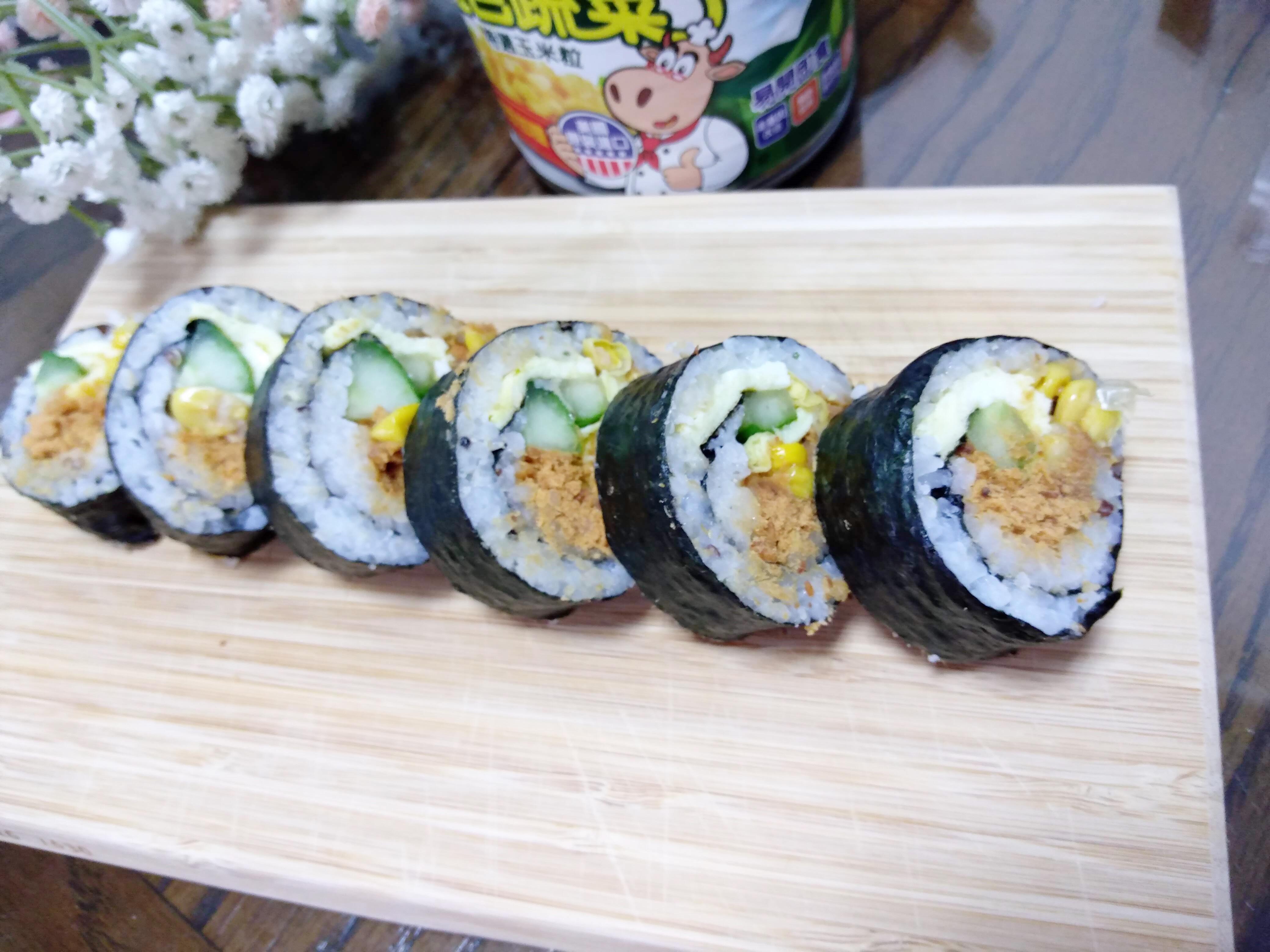 玉米魚鬆壽司卷