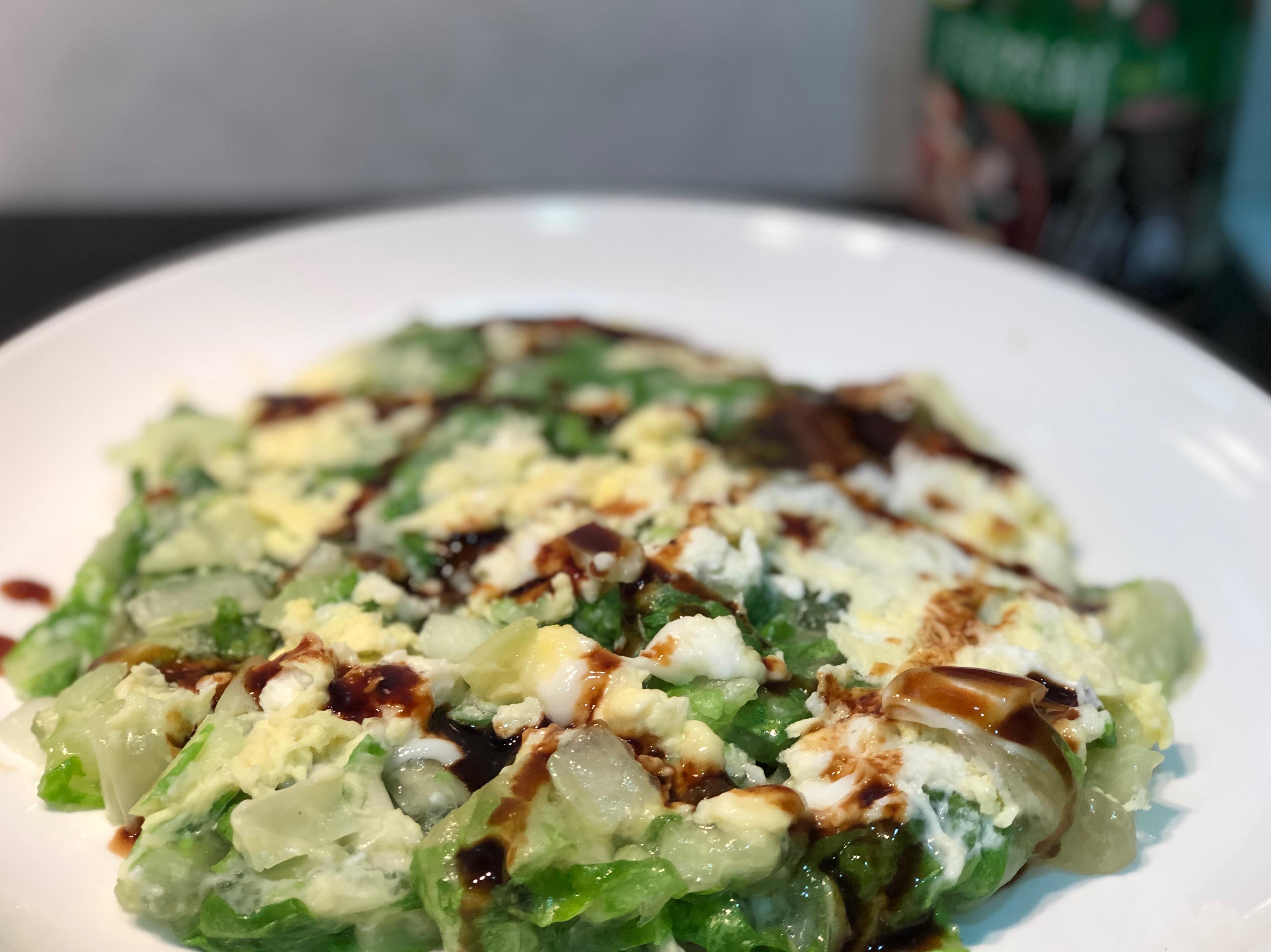 小白菜雞蛋煎/自然鮮香菇風味調味料